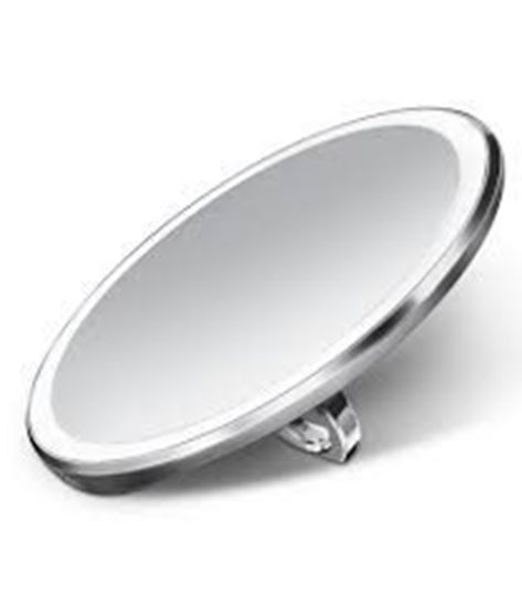 Oglinda cosmetica de buzunar cu senzor, 10,4 cm, Argintiu - SimpleHuman
