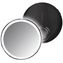 Oglinda cosmetica de buzunar cu senzor, 10,4 cm, Black - simplehuman