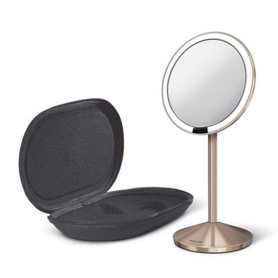 Oglinda cosmetica cu senzor 11,5 cm, Rose Gold - SimpleHuman