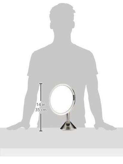 Oglinda cosmetica cu senzor de perete, 23 cm - simplehuman