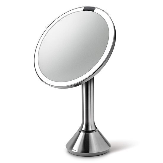 Oglinda cosmetica cu senzor, 23 cm, Argintiu - simplehuman