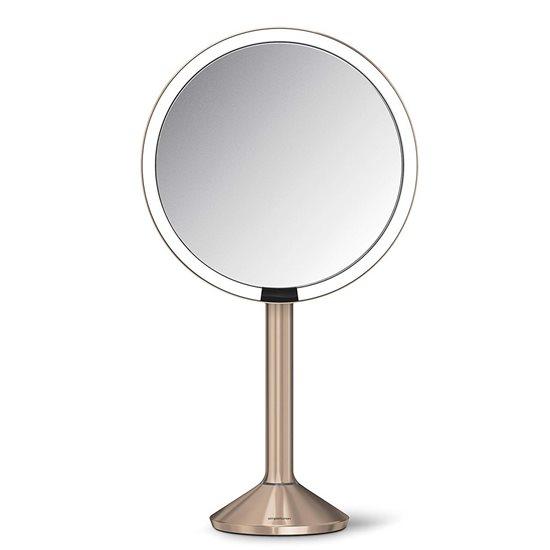 Oglinda cosmetica cu senzor, 23 cm, Rose Gold - simplehuman