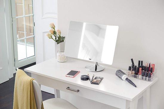 Oglinda cosmetica wide-view cu senzor, 51,5 x 18 cm - simplehuman